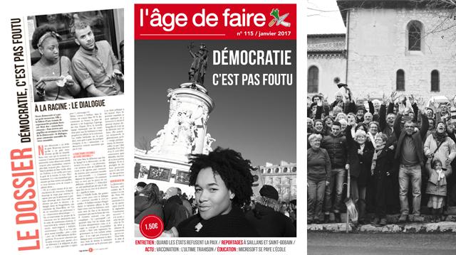 Démocratie, c'est pas foutu: Un dossier spécial du (remarquable) journal «L'âge de faire» – #pasdedémocratiesanscitoyensconstituants
